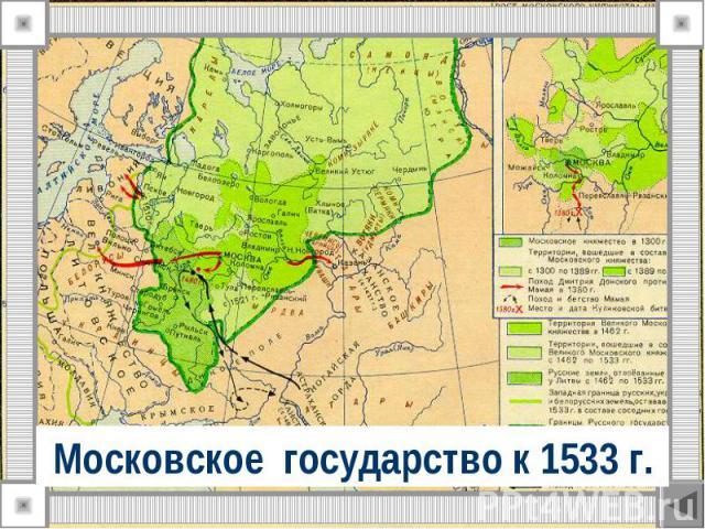 Московское государство к 1533 г.