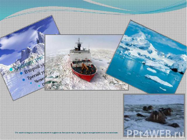Эти моря холодные, они покрываются льдами на большую часть года. Суда по ним движутся вслед за ледоколами.