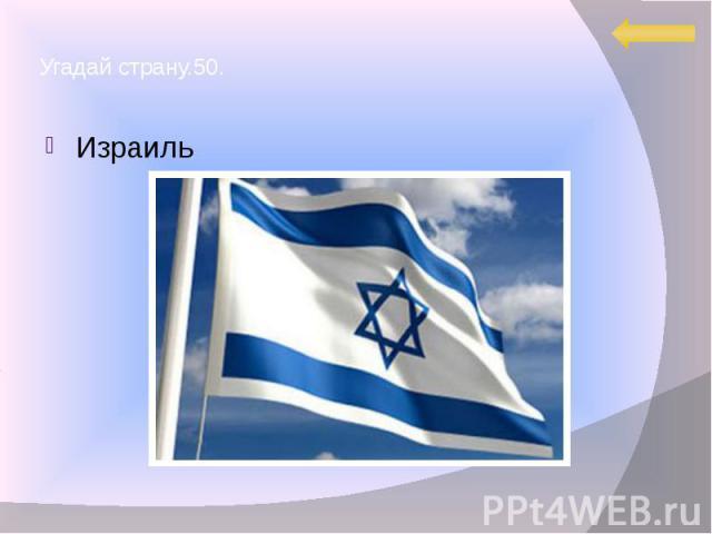 Угадай страну.50. Израиль