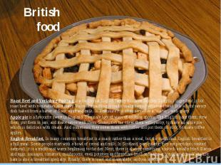 British food Roast Beef and Yorkshire Pudding is a traditional English family lu