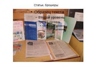 Статьи, брошюры