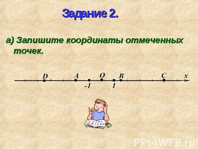 а) Запишите координаты отмеченных точек. а) Запишите координаты отмеченных точек.