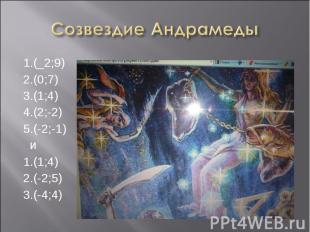 1.(_2;9) 1.(_2;9) 2.(0;7) 3.(1;4) 4.(2;-2) 5.(-2;-1) и 1.(1;4) 2.(-2;5) 3.(-4;4)