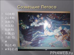 1.(-6;8) 1.(-6;8) 2.(-4;9) 3.(0;7) 4.(1;5) 5.(8;5) 6.(8;-2) 7.(0;-1) и 8.(-2;-4)