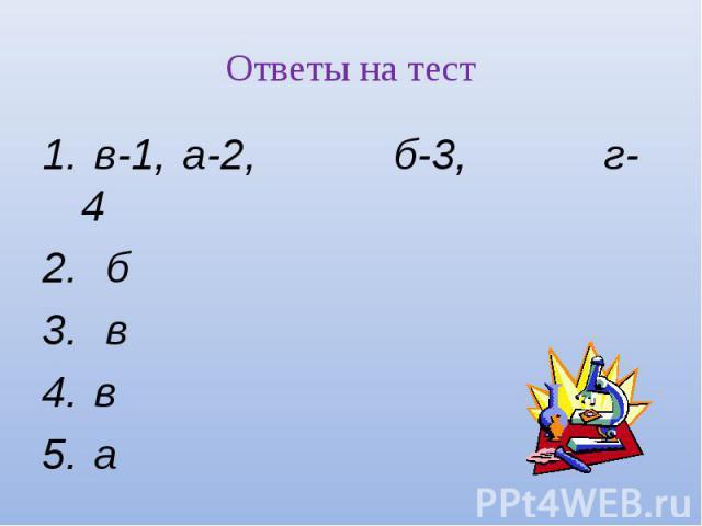 в-1, а-2, б-3, г-4 в-1, а-2, б-3, г-4 б в в а