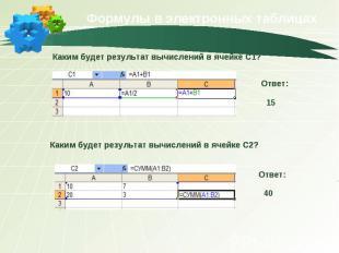 Формулы в электронных таблицах