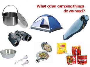 What other camping things do we need?