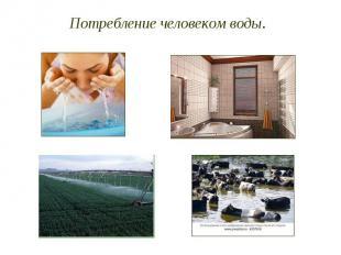 Потребление человеком воды.