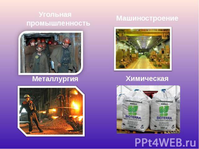 Угольная промышленность Угольная промышленность Металлургия