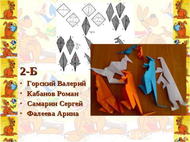 2-Б 2-Б Горский Валерий Кабанов Роман Самарин Сергей Фалеева Арина