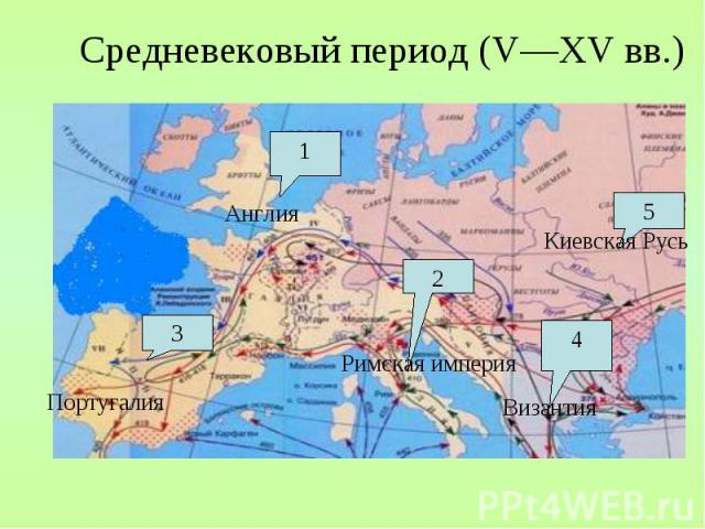 Средневековый период (V—XV вв.)