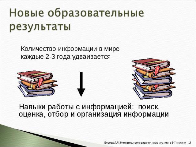 Количество информации в мире каждые 2-3 года удваивается Количество информации в мире каждые 2-3 года удваивается