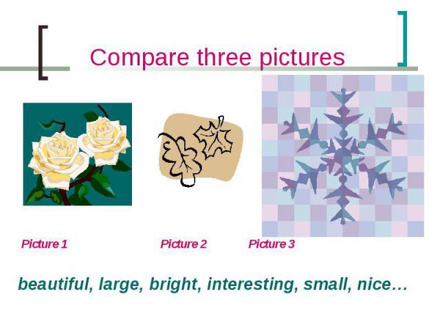 Picture 1 Picture 2 Picture 3 Picture 1 Picture 2 Picture 3 beautiful, large, bright, interesting, small, nice…