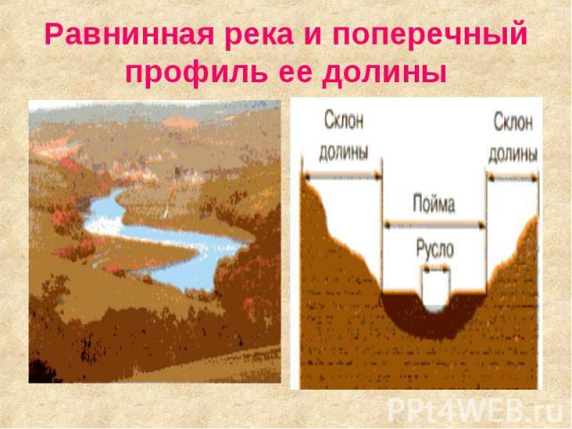 Равнинная река и поперечный профиль ее долины
