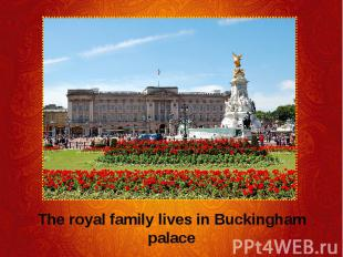 The royal family lives in Buckingham palace The royal family lives in Buckingham