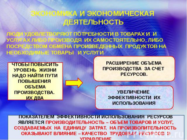 ЭКОНОМИКА И ЭКОНОМИЧЕСКАЯ ДЕЯТЕЛЬНОСТЬ