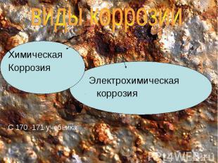 Химическая Коррозия Электрохимическая коррозия С 170 -171 учебника