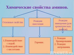 Химические свойства аминов.