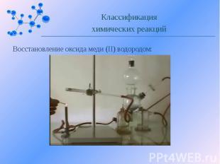 Восстановление оксида меди (II) водородом: