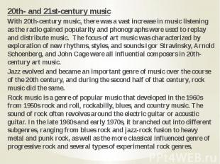 20th- and 21st-century music 20th- and 21st-century music With 20th-century musi