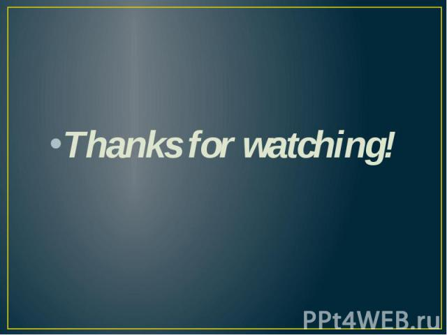 Thanks for watching!