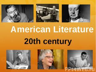 American Literature 20th century