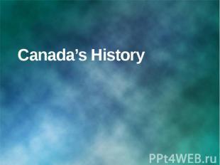 Canada's History