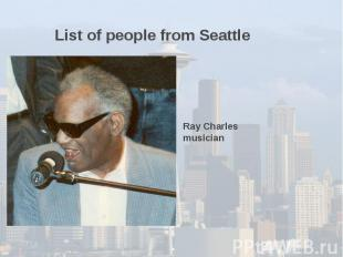 List of people from Seattle