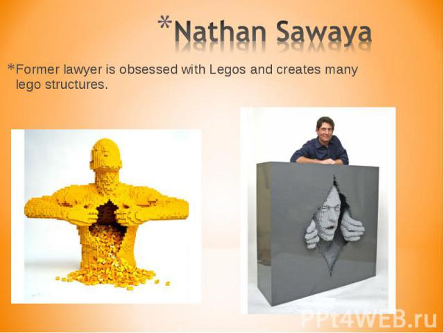 Former lawyer is obsessed with Legos and creates many lego structures. Former lawyer is obsessed with Legos and creates many lego structures.