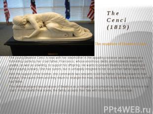 The Cenci (1819) The sculpture of Beatrice Cenci