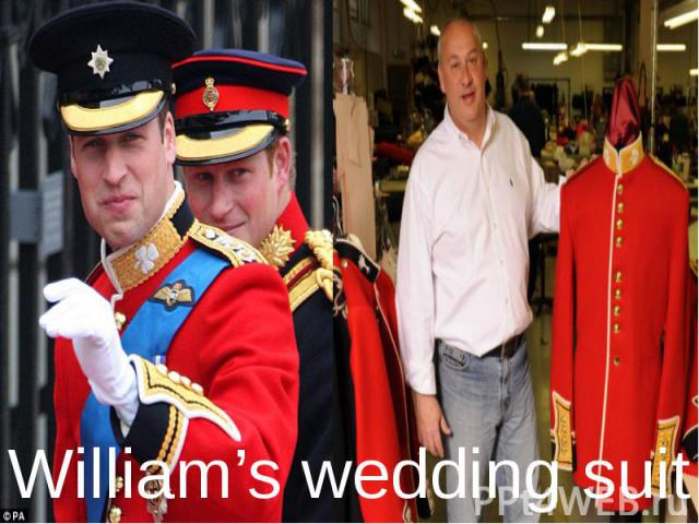 William's wedding suit