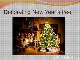 Decorating New Year's tree