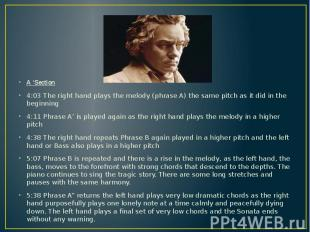 A 'Section A 'Section 4:03 The right hand plays the melody (phrase A) the same p