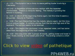 vii. 2:32 – The dynamic has a sharp increase getting louder involving a Crescend