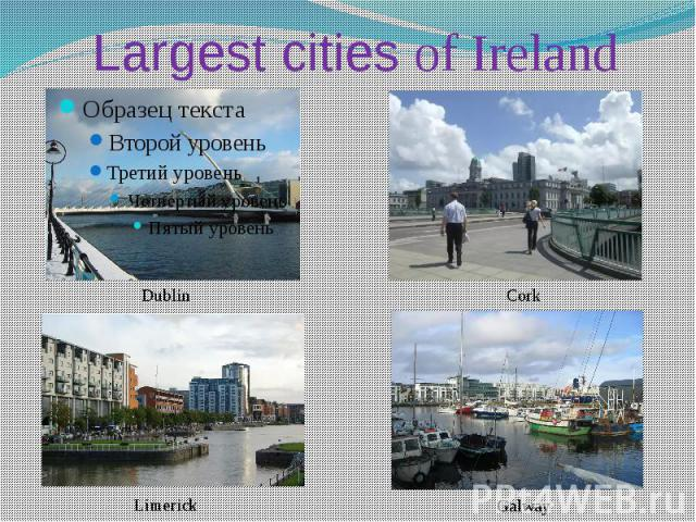 Largest cities of Ireland