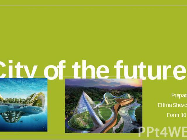 City of the future Prepad Ellina Shevchenko Form 10-B