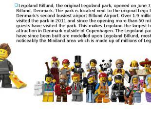 What's this? Legoland Billund, the original Legoland park, opened on June 7, 196