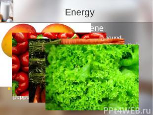 Energy Beta-carotene Beta Carotene is a carotenoid compound responsible for givi