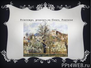 Printemps, pruniers en fleurs, Pontoise