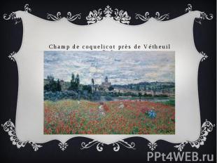 Champ de coquelicot près de Vétheuil