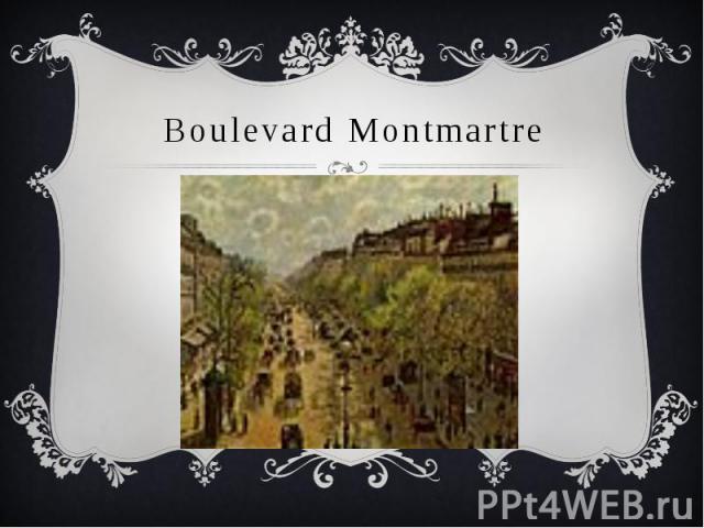 Boulevard Montmartre