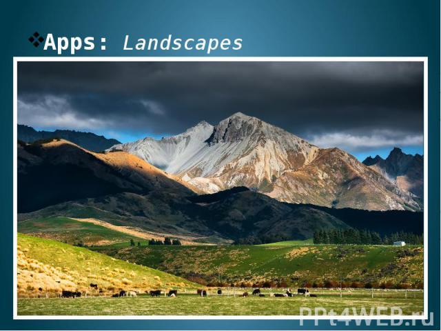 Apps: Landscapes