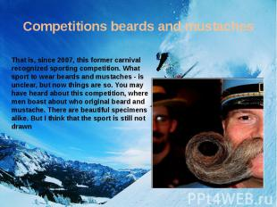 Competitions beards and mustaches