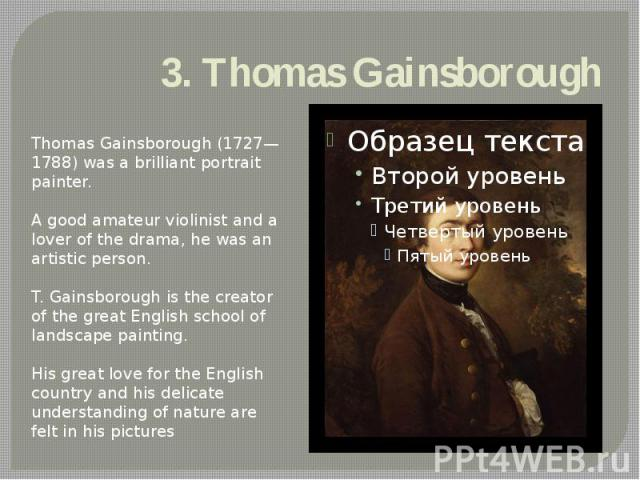 3. Thomas Gainsborough