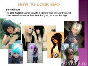 """› Emo Haircuts › Emo Haircuts """"The emo haircuts work best with the proper look a"""