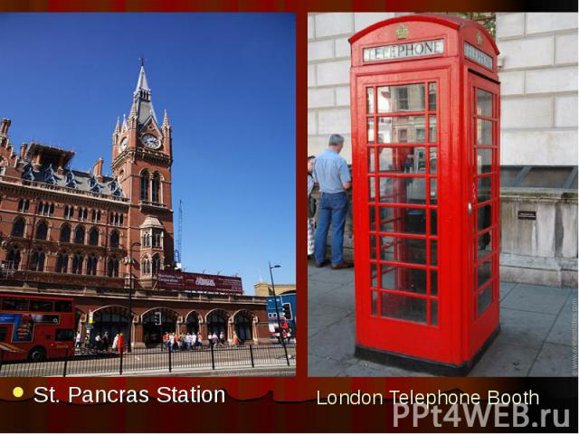 London Telephone Booth St. Pancras Station
