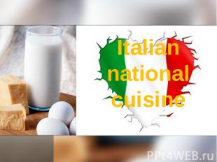 Italian national cuisine