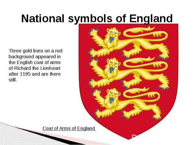 Nationalsymbols of England