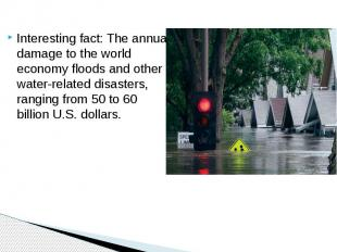 Interesting fact: The annual damage to the world economy floods and other water-