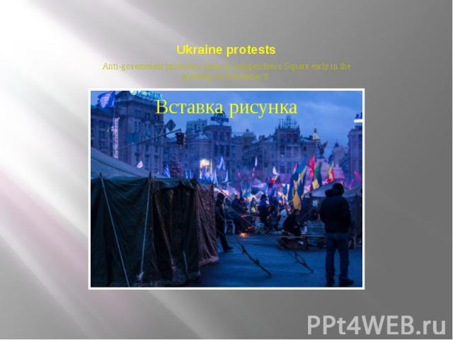 Ukraine protests Anti-government protesters camp in Independence Square early in the morning on December 8.